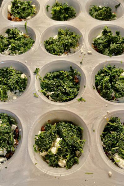 Spinach, GF, Mini Frittata