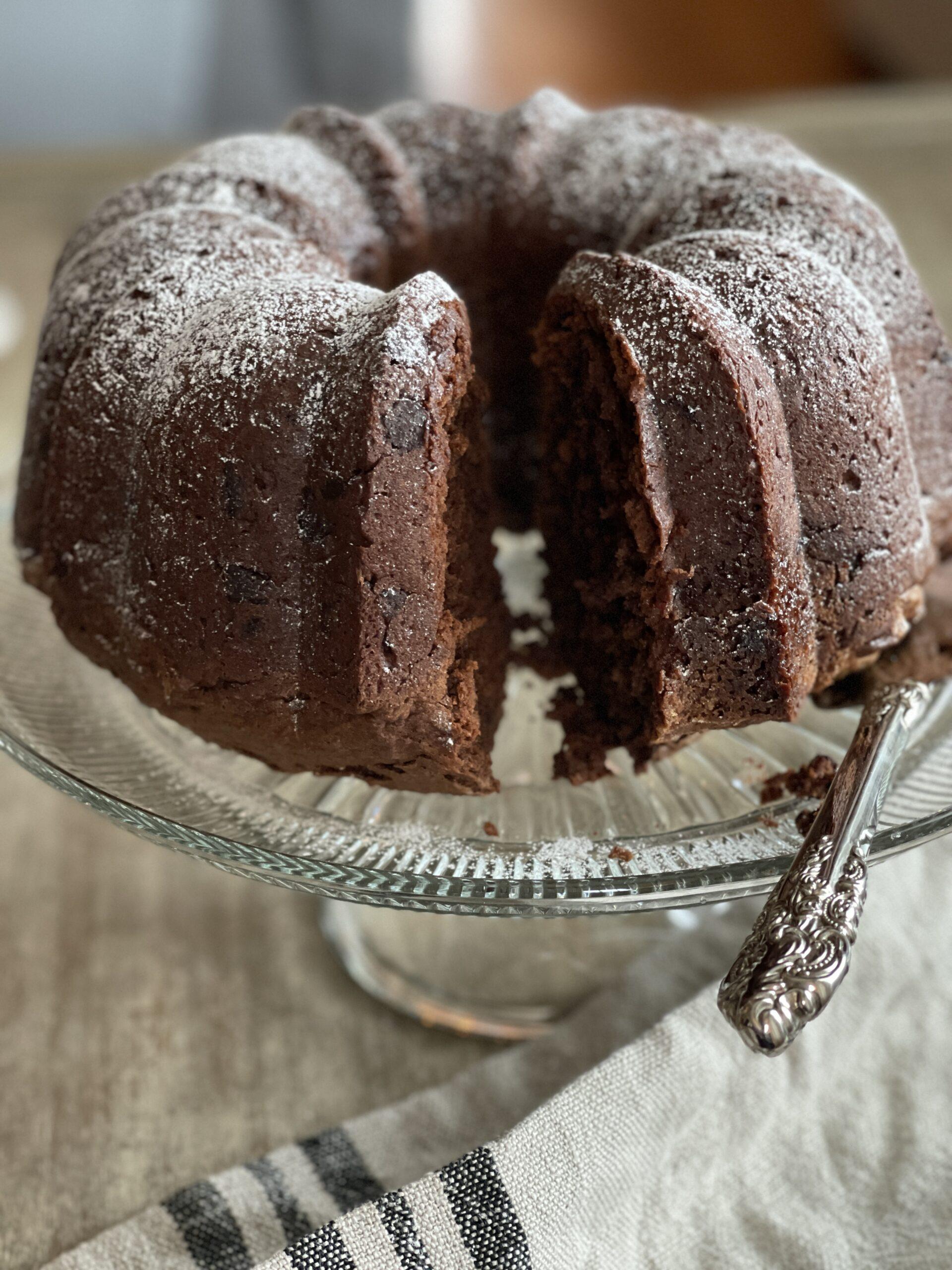 Finished gluten free Bundt Cake