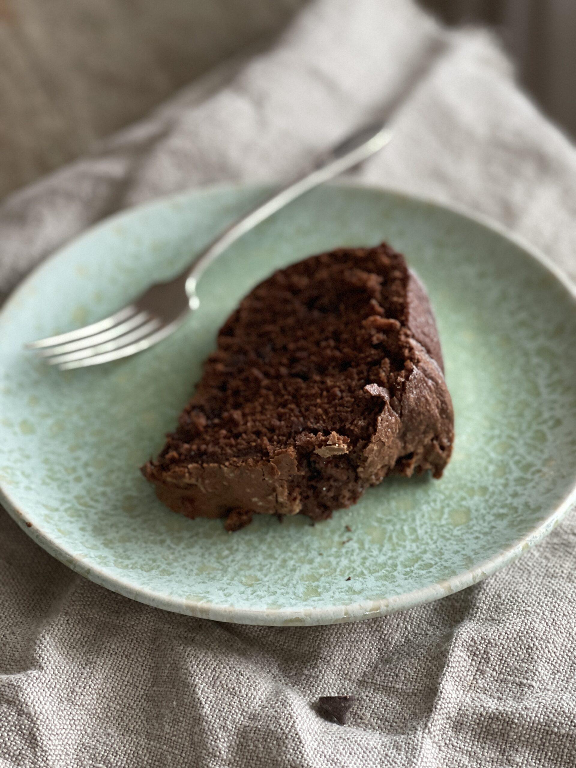 sliced gluten free Chocolate Bundt Cake