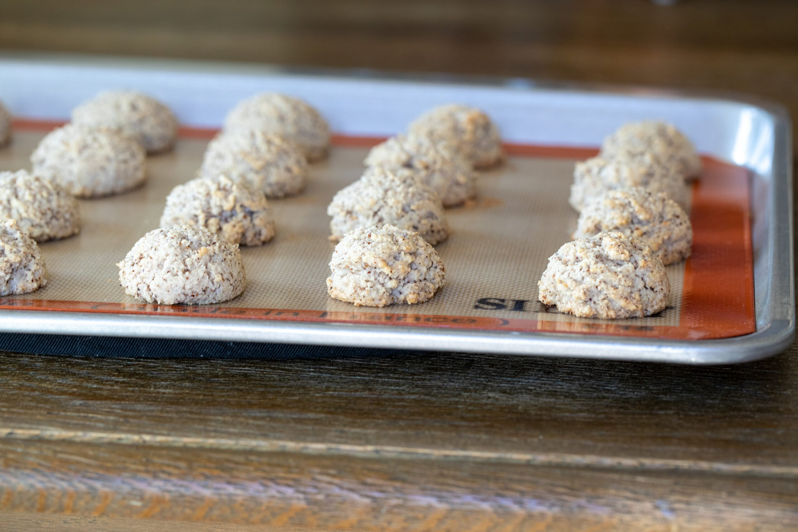 Best Hazelnut Amaretti Cookies right out of oven.
