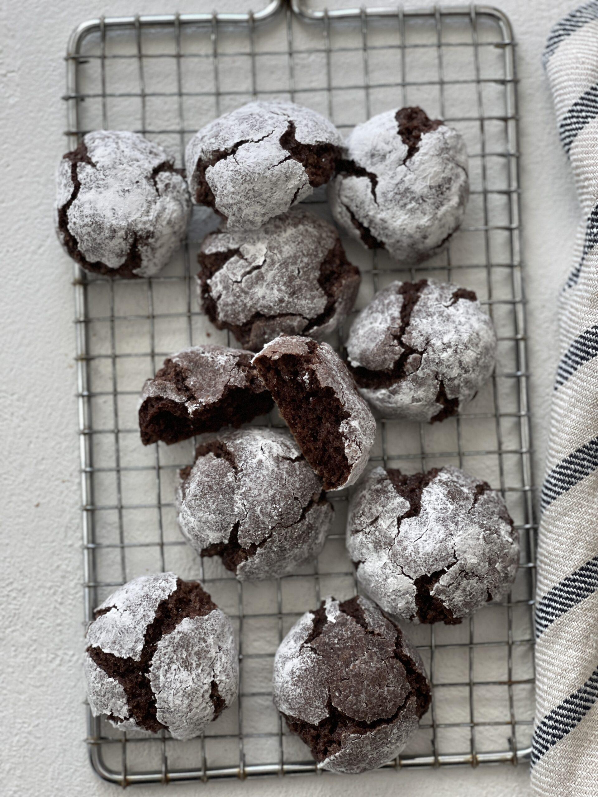 Chocolate Amaretti Cookies