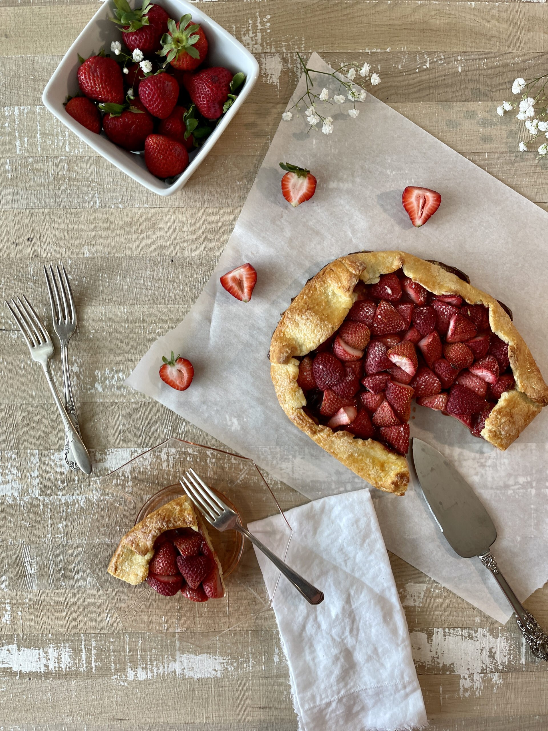 gf strawberry galette