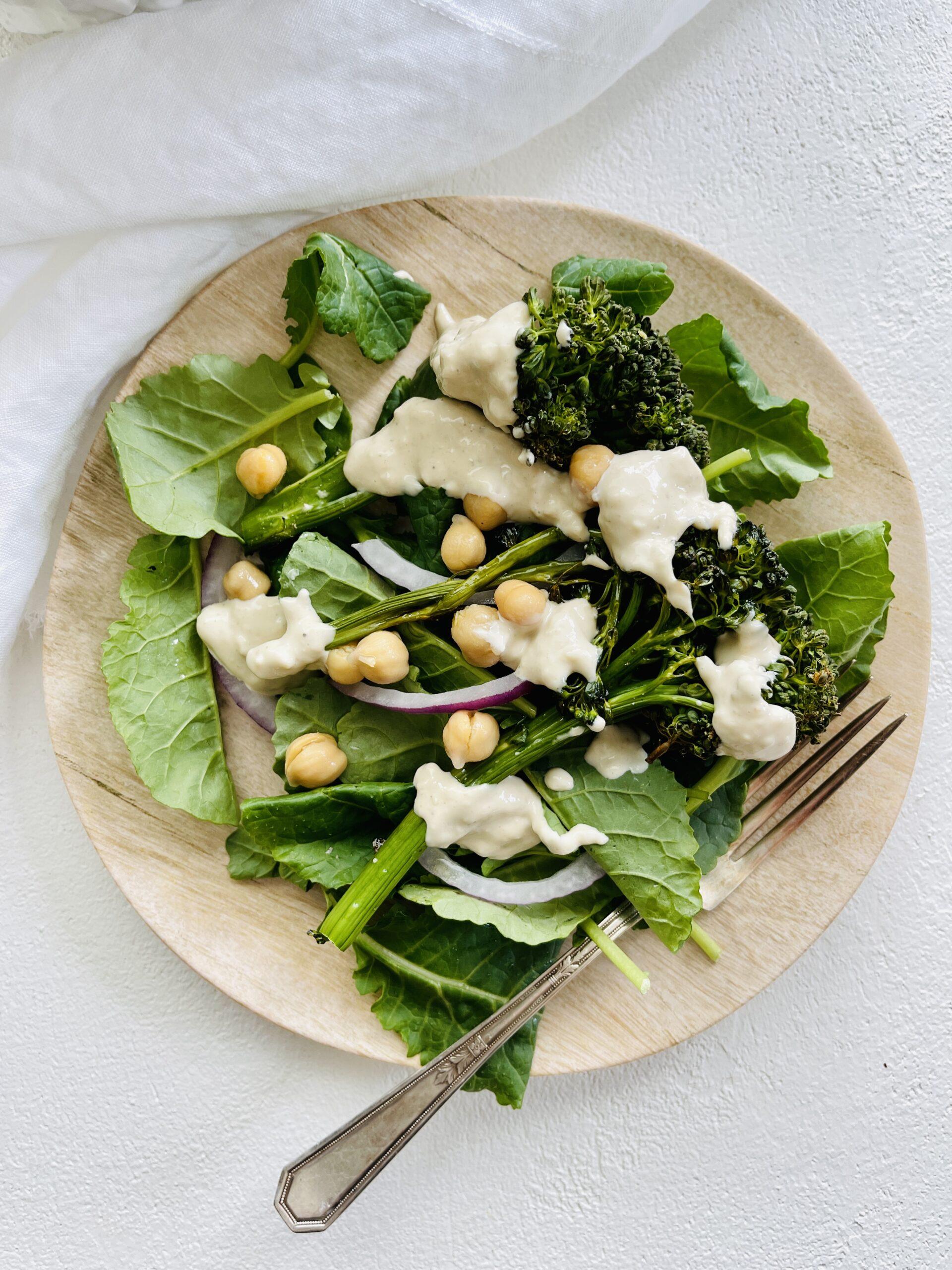 Broccolini Kale Caesar Salad