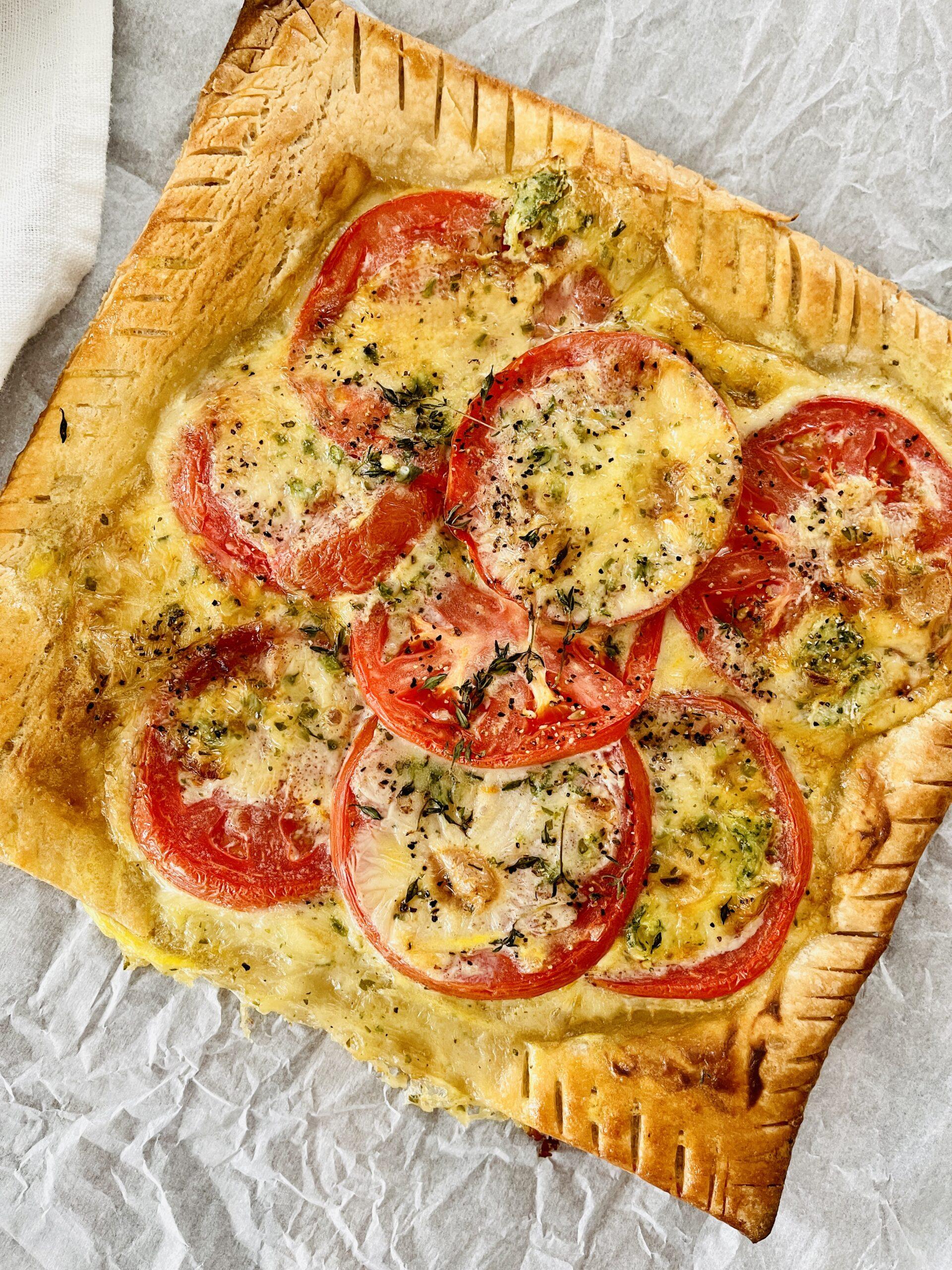 GF Tomato and Brie Tart