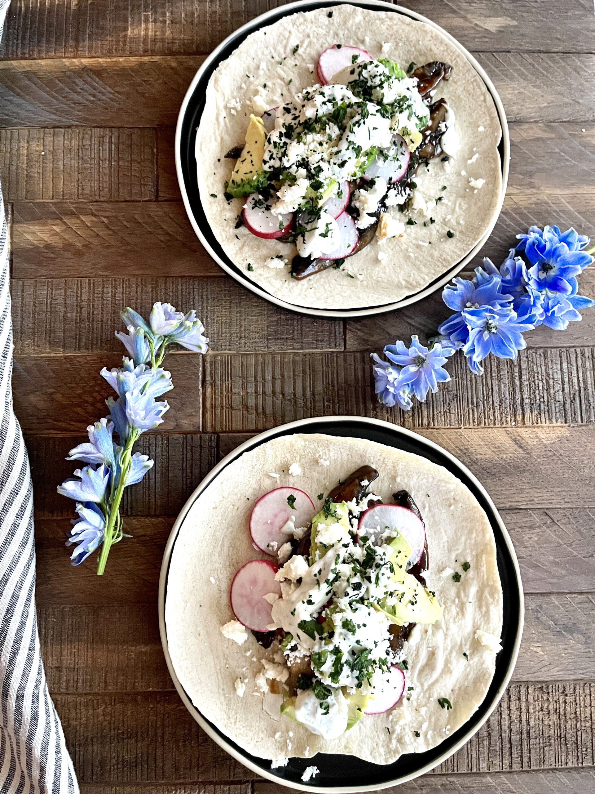 GF BBQ Portobello Mushroom Tacos