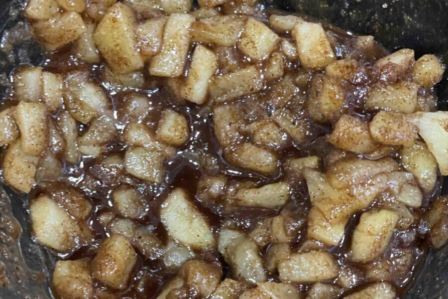 Sautéed Apple with brown sugar
