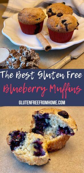 The Best Gluten Free Blueberry Muffins