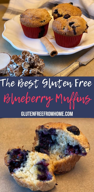 Moist GF Blueberry Muffins